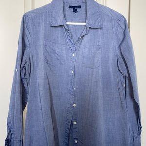Tommy Hilfigre chambray blouse size M
